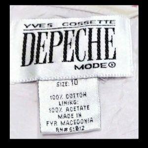 Yves Cossette Depeche Mode Dresses - Halter Dress White Pink Geometric Floral Size 10